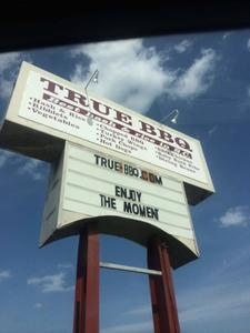 True BBQ - West Columbia; Sign