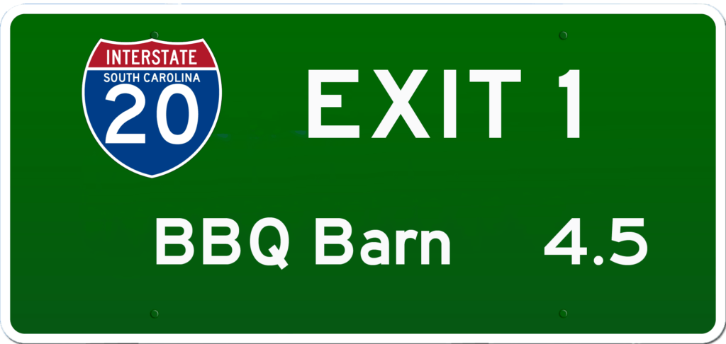 SC BBQ on I-20 at Exit 1