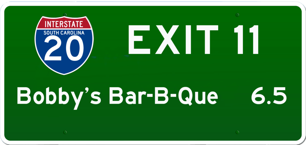 SC BBQ on I-20 at Exit 11