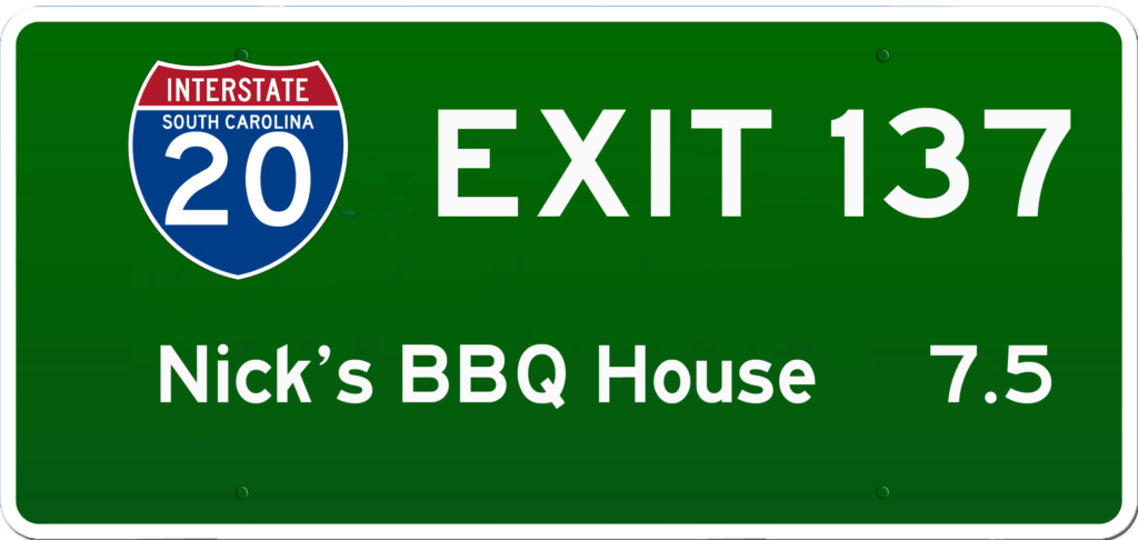 SC BBQ on I-20 at Exit 137