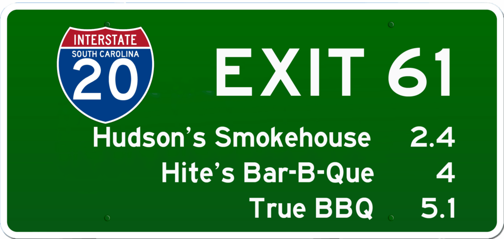 SC BBQ on I-20 at Exit 61