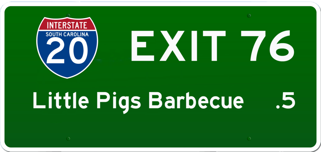 SC BBQ on I-20 at Exit 76