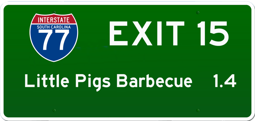 SC BBQ on I-77 at Exit 15