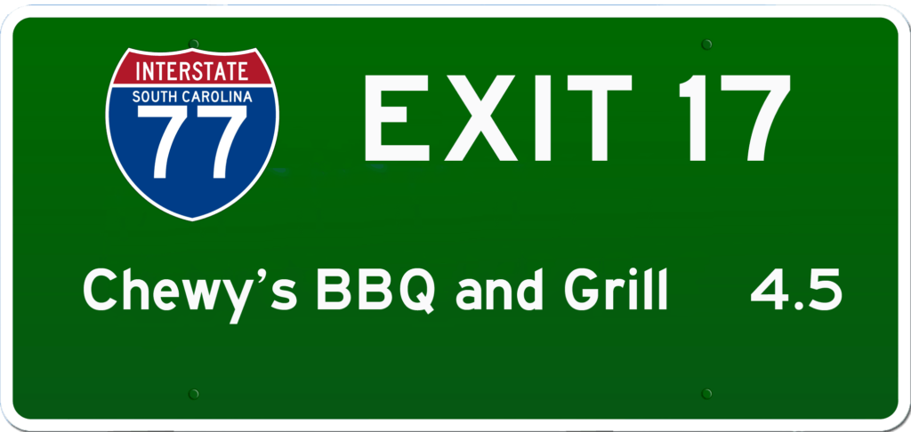 SC BBQ on I-77 at Exit 17