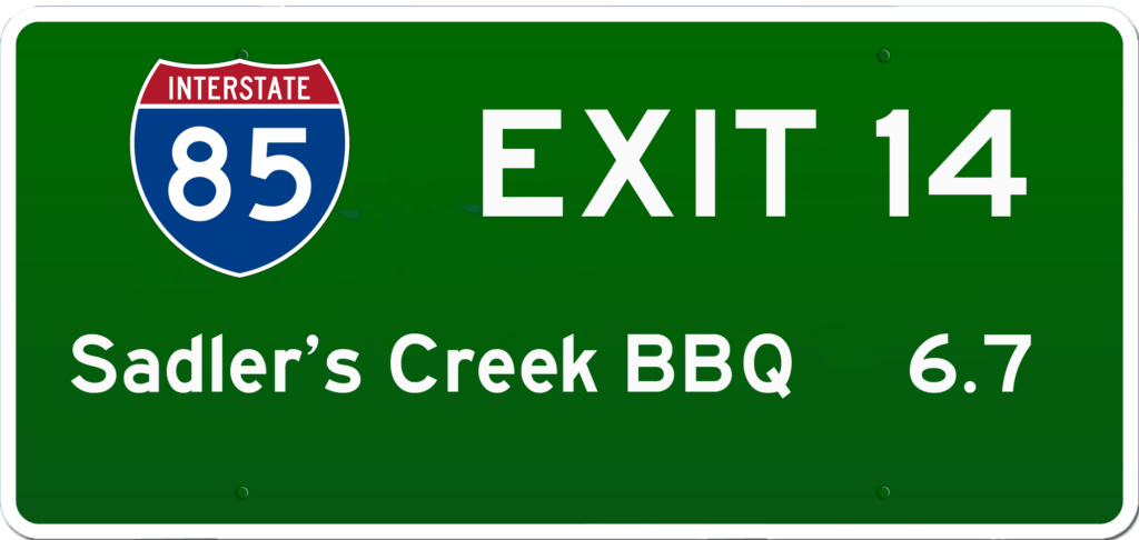 SC BBQ on I-85 at Exit 14