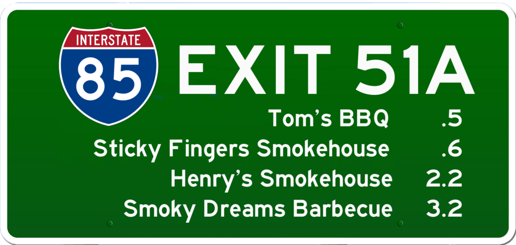 SC BBQ on I-85 at Exit 51A
