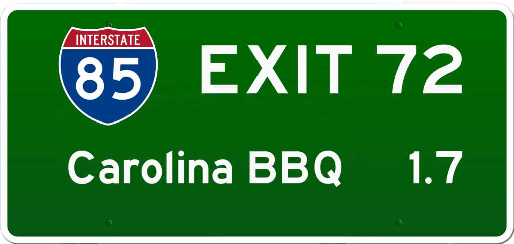 SC BBQ on I-85 at Exit 72
